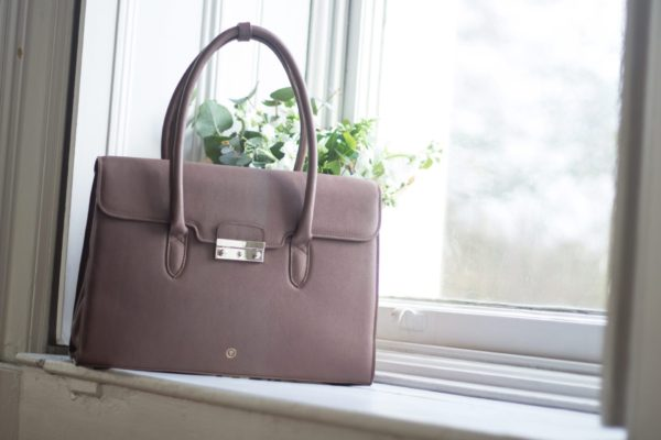 taupe leather womens handbag