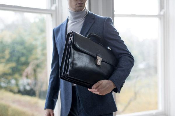 italian leather briefcase