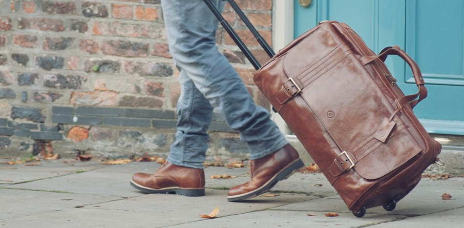 Leather Hand Luggage for Men