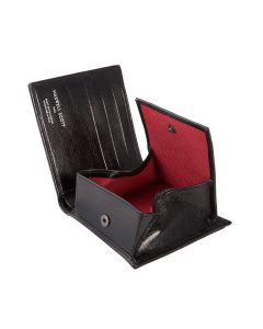 black leather wallet with coin section